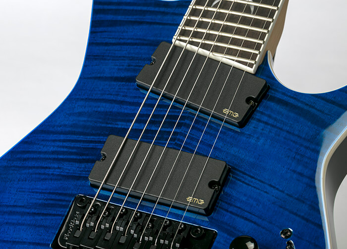 DEAN GUITARS Rusty Cooley 7 String Flame Top TBL W/C 拡大2