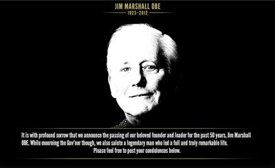 マーシャル・アンプの創設者、ジム・マーシャル死去