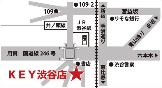 ミュージックランドKEY渋谷店マップ