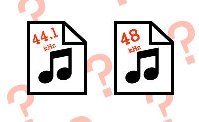 サンプリングレートが異なる音源素材を使う時は…
