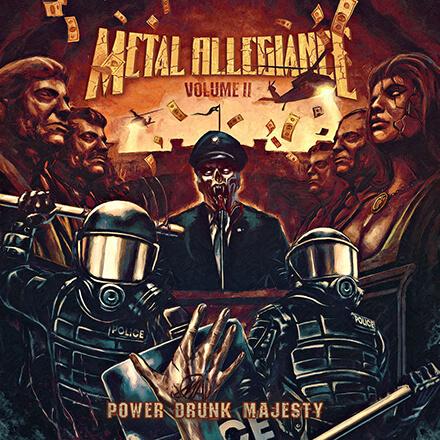VOLUME II POWER DRUNK MAJESTY/METAL ALLEGIANCE ギターの職人技も大いに光る人気プロジェクト第2弾
