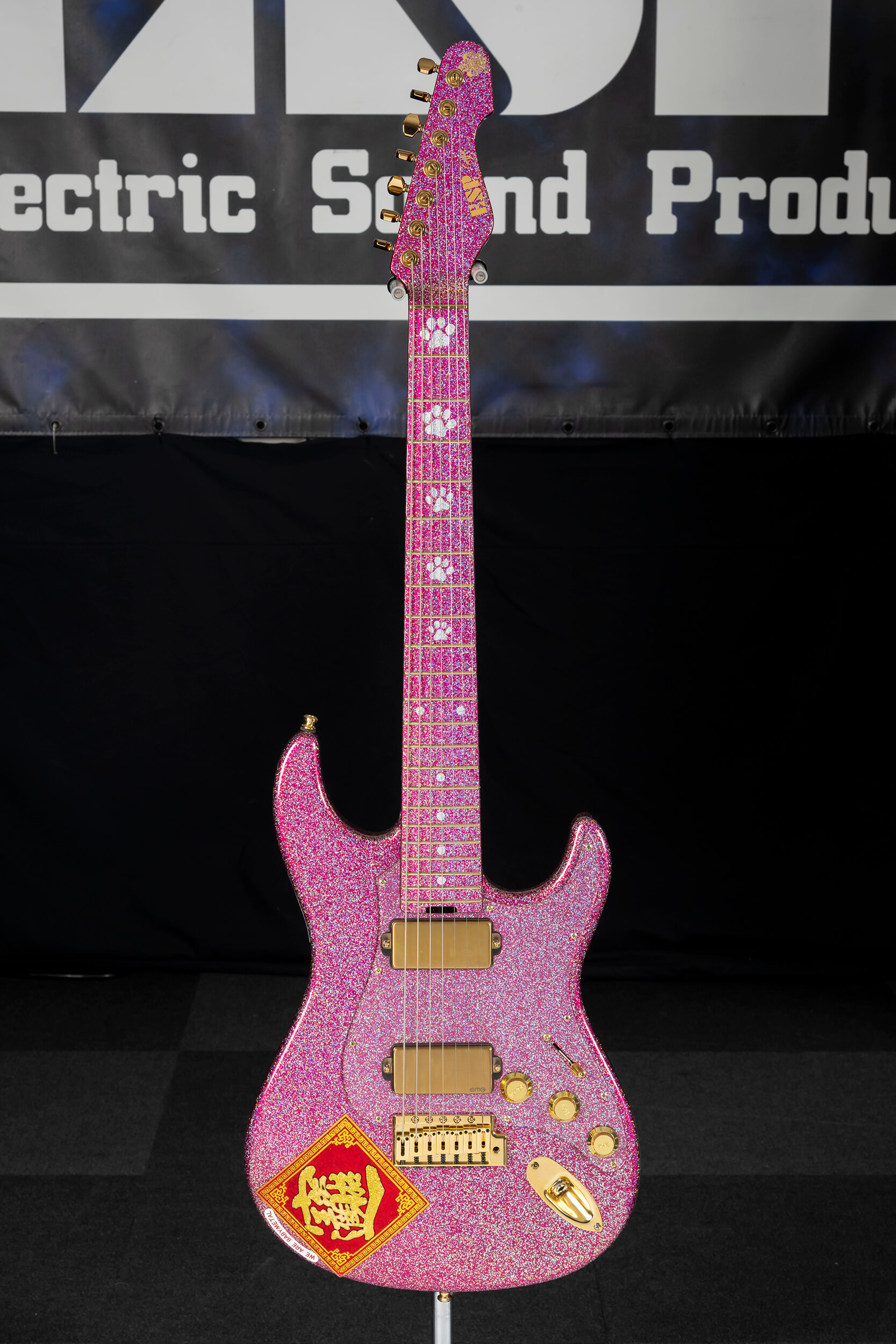 "ESP SNAPPER-7 Ohmura Custom ""Pink Monster"" -15th Anniversary Limited Edition-"