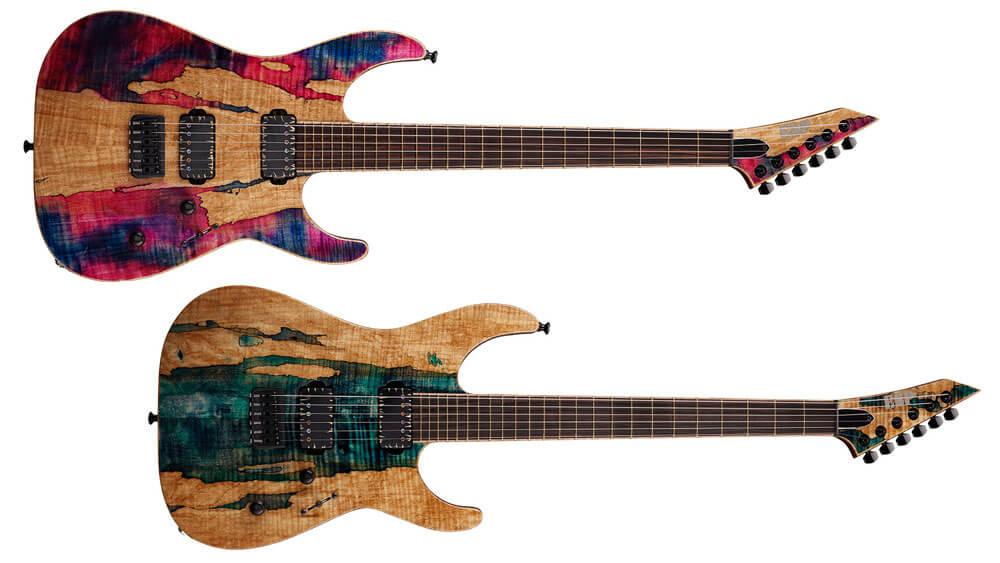 "ESP45周年記念、スポルテッド・メイプルの木目を活かした特別仕様ギター""M-II 45th Limited""が登場"