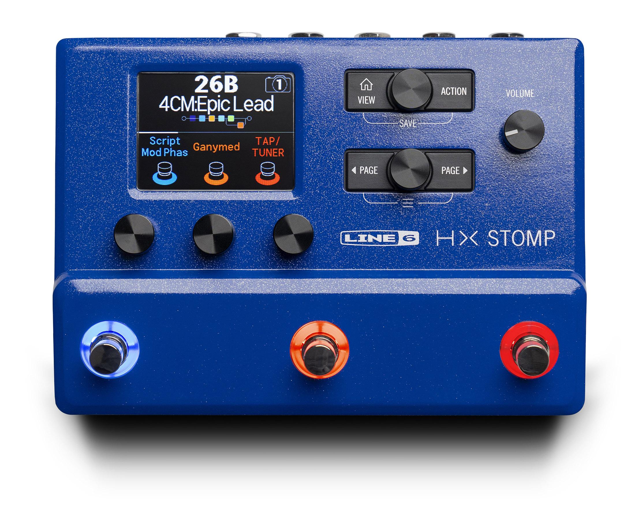 "Line 6から青いカラーの""HX Stomp Lightning Blue""が数量限定発売"