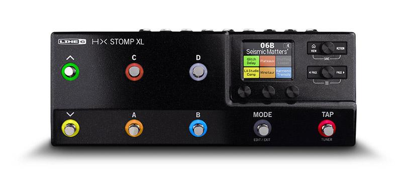 """Line 6から""""HX Stomp""""の強化版""""HX Stomp XL""""が登場、キャリング・バッグも同時発売"""
