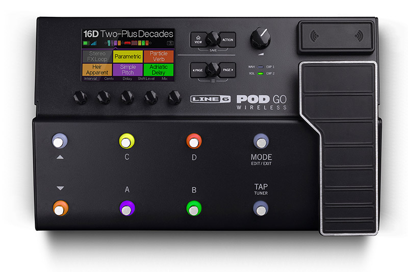 "Line 6がワイアレスを内蔵した""POD Go Wireless""を発表"